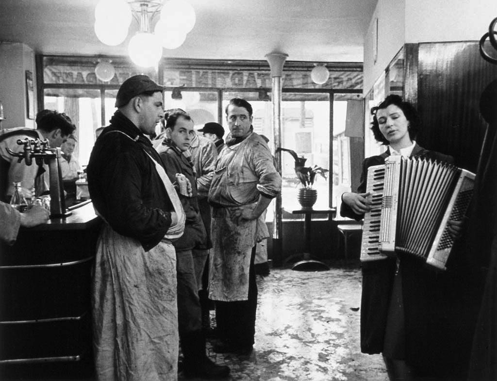 Les bouchers mélomanes, Rungis, 1954. Photo Robert Doisneau.